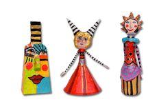 Kunst aus Papier von Jeanett Rotter, Figuren aus Pappmasche