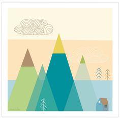 Affiche Montagne By Mini labo @bonjourbibiche #deco #graphique