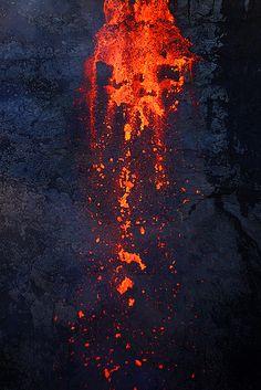 Lava fall detail - Fimmvörðuháls
