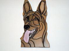 This German Shepard made of Sculptured Wood by Galleryatkingston, $70.00
