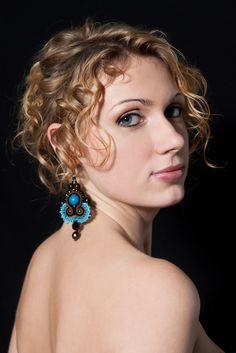 Sutasz-Anka:Aisha- earrings  Model: Agnieszka Trojan  Photo: Weronika Sadlik