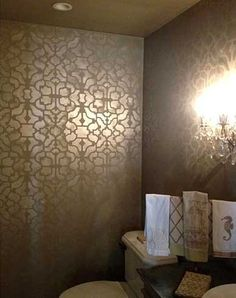 Cutting Edge Stencils - Vision Allover Stencil for wall behind bed