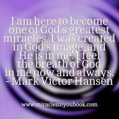 #markvictorhansen #miracles