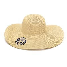 Monogram Floppy Hat / Keep the Sun off your by MonogramCollection