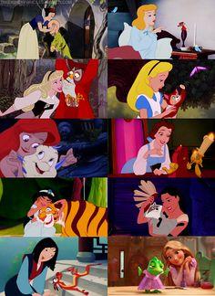 Disney Princesses and their Sidekicks