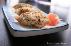 Rice in Seasoned Soybean Curd --  유부초밥