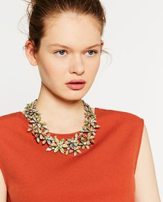 Image 4 of SUMMER FLOWERS NECKLACE from Zara