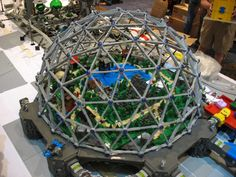 build a geodesic dome out of lego | Flickr - Photo Sharing!