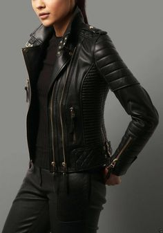 Leather Jacket Outfits, Lambskin Leather Jacket, Leather Blazer, Black Leather Motorcycle Jacket, Biker Leather, Real Leather, Women Motorcycle, Retro Motorcycle, Motorcycle Helmets