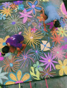 Chalk Drawings, Art Drawings, Chalk Design, Sidewalk Chalk Art, Graffiti Lettering, Sculpture Art, Metal Sculptures, Chalkboard Art, Art Inspo