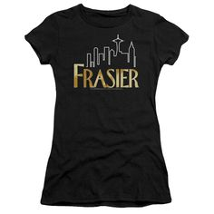Behold the Frasier - Frasier Logo Junior T-Shirt. Now you can be part of the hype with this black colored, officially licensed junior t-shirt made of 100% pre-shrunk cotton. This junior t-shirt is per
