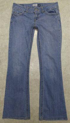 Aeropostale 7/8 Reg Jeans Hailey Skinny Flare Cotton Blend Blue 32x31.5 #Aropostale #skinnyflare