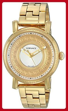 Versace Women's 'Day Glam' Quartz Stainless Steel Casual Watch, Color:Gold-Toned (Model: VQ9070014) - All about women (*Amazon Partner-Link)
