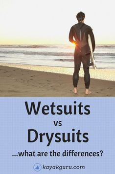 Wetsuits vs Drysuits for Kayaking, Surfing, SUP, Diving and other watersports. It's hard to know which to choose. We explain the differences between wetsuits and drysuits and list the pros and cons of…More Kayaking Outfit, Kayaking Tips, Whitewater Kayaking, Kayak Boats, Kayak Camping, Camping List, Sea Fishing Rods, Kayak Fishing, Saltwater Fishing