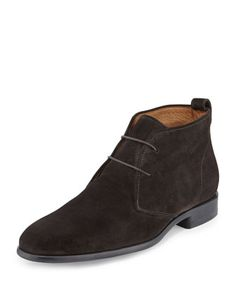 Alberto Suede Chukka Boot, Graphite by Vince at Neiman Marcus.