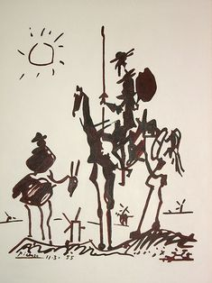 Don Quixote Pablo Picasso 1955 Pablo Picasso, Art Encounters, Dom Quixote, Literary Characters, Literary Tattoos, Roy Lichtenstein, Art For Art Sake, Holiday Sales, Sculpture