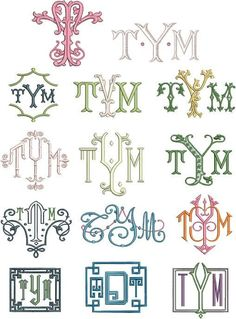 The Enchanted Home - Rediscover Your Home Free Monogram, Monogram Design, Monogram Styles, Monogram Fonts, Monogram Letters, Embroidery Monogram, Embroidery Fonts, Embroidery Applique, Embroidery Patterns