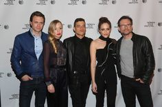 (L-R) Martin Wallstrom, Portia Doubleday, Rami Malek, Carly Chaikin and Christian Slater attend Tribeca Talks After The Movie: Mr. Robot during the 2015 Tribeca Film Festival at Chelsea Bow Tie Cinemas on April 26, 2015 in New York City.