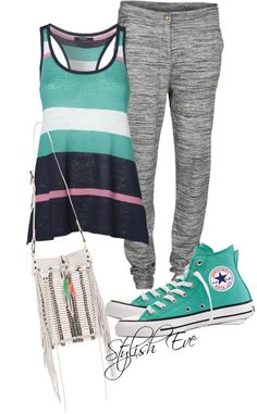 """""""Green Converse All Star Outfit!"""" by stylisheve ❤ liked on Polyvore"""