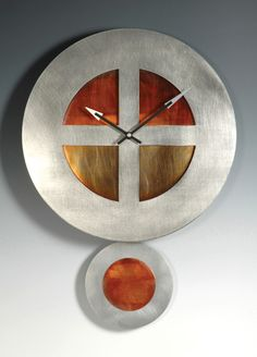 On Target Pendulum Clock: Leonie Lacouette: Metal Clock - Artful Home Metal Clock, Wooden Clock, The Finest Hours, Traditional Clocks, Tick Tock Clock, Wall Watch, Cat Clock, Pendulum Clock, Cool Clocks