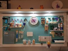 Framed Pegboard to Organize Your Craft Room I created this large and very beautiful peg board using another one of Jennifer's tutorials. Again if you like tutorials that give you the material list needs and well written instruction then this tutorial is t