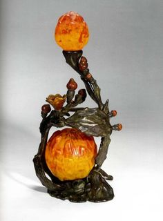Art Nouveau - Lampe - Pâte de Verre - Emile Gallé