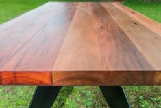Southside Dining Table by Bombora Custom Furniture. This truly stunning custom made recycled timber dining table with black powder coated metal legs is. Recycled Timber Furniture, Sustainable Furniture, Custom Made Furniture, Unique Furniture, Furniture Making, Furniture Design, Metal Leg Dining Table, Wooden Outdoor Table, Custom Dining Tables