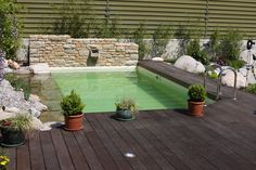 Mini piscine contemporaine caron piscines piscines pinterest minis et - Mini piscine naturelle ...