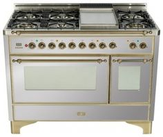 "Majestic Series UM120FMPIX 48"" Freestanding Dual Fuel Range with 6 Burners  2.8 contemporary-gas-ranges-and-electric-ranges"