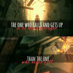Nico Edogawa's Anime Quotes images from the web