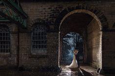 Marie Anson Photography, Wortley Hall, Raining wedding, Night photography, Wortley Hall wedding, Sheffield wedding,
