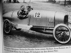 Rennfahrerepaar Heinecke/Nestler  belegten den dritten Platz in der Klasse bis 6-Steuer-PS in Berlin beim ersten Avus-Rennen am 23.September 1921 Berlin, Ps, Antique Cars, September, Inspiration, First Grade, Vintage Cars, Biblical Inspiration, Photo Manipulation