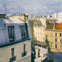 View from Studio, Paris   -    Ben Aronson,  2009  American, b. 1958-