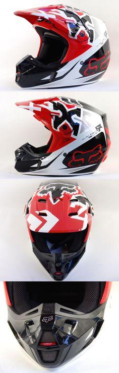 Helmet Accessories 177865: Fox Racing V2 Dot Bmx Mens Motocross Red Snell Certified Helmet Size Medium -> BUY IT NOW ONLY: $149.99 on eBay!