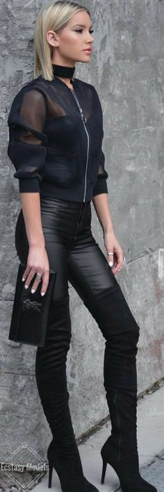 Leather & Mesh // Fashion Look by Shanda Rogers
