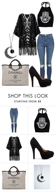 """Untitled #356"" by lean-mean-dean on Polyvore featuring Topshop, Boohoo and Chanel"