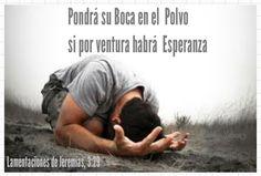 ARACELI MALPICA- Posters : Lamentaciones de Jeremías, 3:29  Pondrá su boca en el polvo, si por ventura habrá esperanza.