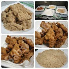 Babsi's kitchen - cook, live and smile: Chicken Nuggets mit Salzbrezel – Käse – Panade