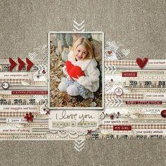 10 Beautiful Valentine's Day Scrapbook Layouts #scrapbooktips
