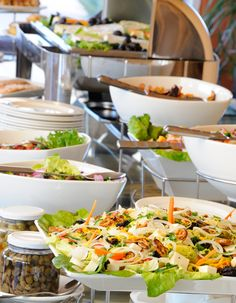 The popular buffet dinner at Sossusvlei Lodge - Salad selection