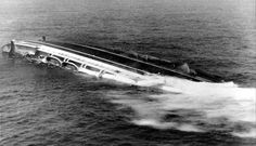 The Italian luxury liner Andrea Doria, her unused lifeboats breaking away from their davits, rolls over and sinks 45 miles south of Nantucket, Mass., in this July 26, 1956 file photo. The passengers and crew were rescued after the ship collided with the Swedish-American liner Stockholm July 25. The Andrea Doria has been a beacon for treasure hunters and adventure seekers almost since the day it sank 50 years ago. Decades later, the grand ship still offers the lure of history, artifacts and…