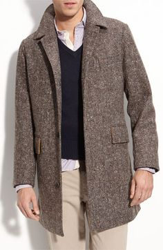 Tweed overcoat  #mensfashion #menswinterfashion