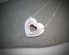"Love you Forever Necklace from the ""Love you Forever"" range. Cherry Tree, Love You Forever, Personalized Jewelry, Washer Necklace, Charms, Range, Pendant, Metal, Unique"
