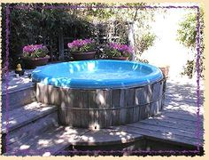 Hot tub surrounded by deck