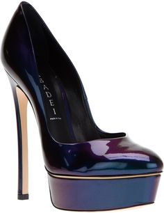#Casadei Blue Patent Platform Stiletto Pump €625 #Shoes #Heels