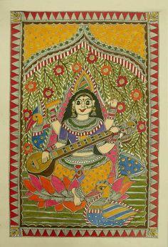 Saraswati Godess of Knowledge by Vidhushini !!!