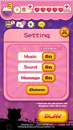 Bubble Owl ~`Game UI by yuan yuan, via Behance