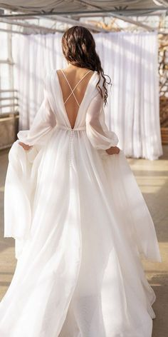 Country Wedding Dresses, Long Wedding Dresses, Bridal Dresses, Organza Wedding Dresses, Wedding Dress Simple, Rustic Wedding Gowns, Reception Dresses, Relaxed Wedding, Modest Wedding