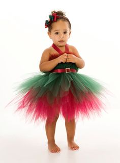 Christmas tutu dress. this is actually cute and would be fun to make if I ever have a little girl