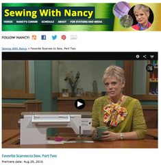 How to Sew an Easy Scarf with with Nancy Zieman